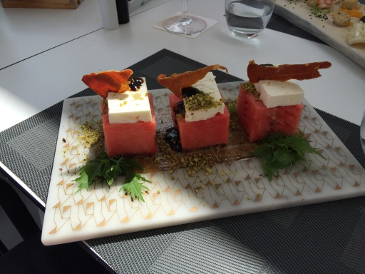 Creative dishes at Mykonos Princess